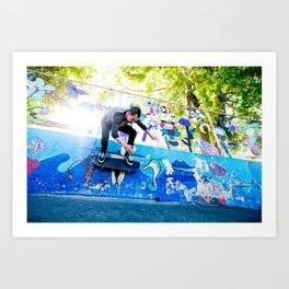 Colorful Wallride Art Print
