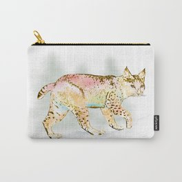 Bobcat in Color Carry-All Pouch