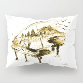 Vintage piano Pillow Sham