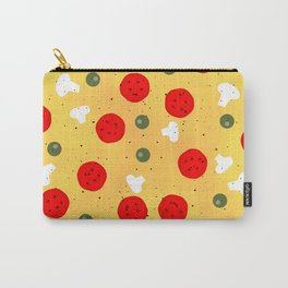 Cool fun pizza pepperoni mushroom Carry-All Pouch