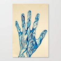 indigo Canvas Prints featuring Indigo by Nieves