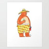 Summer Bear Art Print