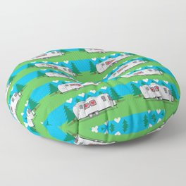 Love is in the Airstream Floor Pillow