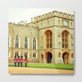 Changing the Guard at Windsor Castle Metal Print