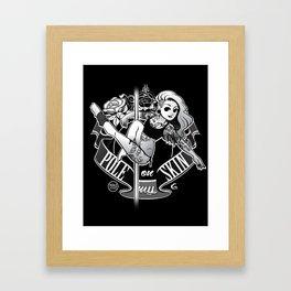 Pole Friends - Tatoo Black Framed Art Print