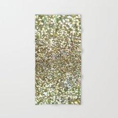 gold glitter blur Hand & Bath Towel