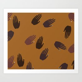 Melanin Hands Art Print