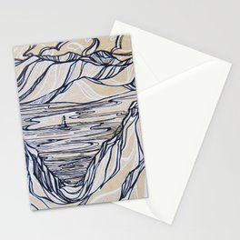 Couloir Land, Svalbard Stationery Cards