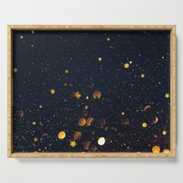 Pennies and Stars Falling From Heaven Serving Tray