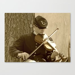 Civil War Fiddle Player Canvas Print