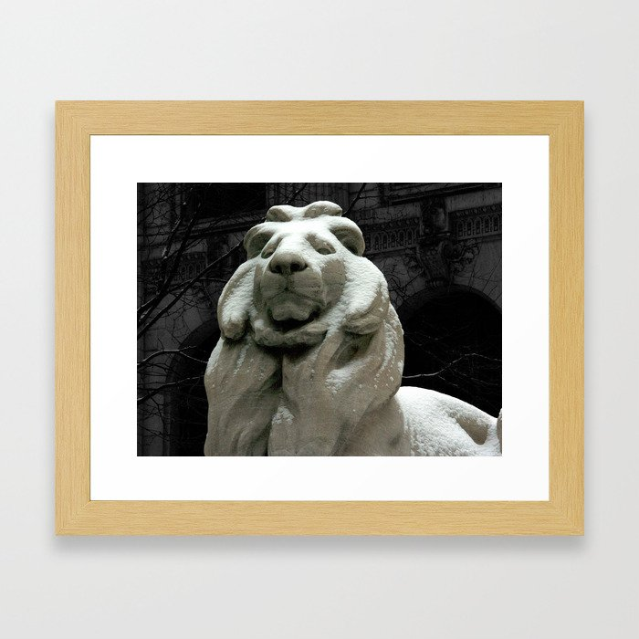 Patience In The Snow Framed Art Print