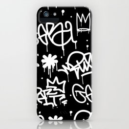 Black and White Graffiti iPhone Case