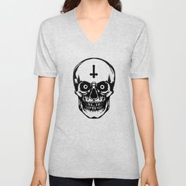 Most Ugly Satanic Skull Unisex V-Neck
