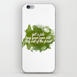 stay out of the forest iPhone Skin