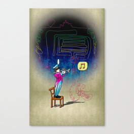 Make your own kind of music! Canvas Print