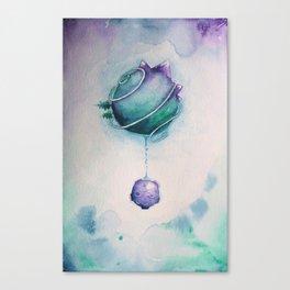 Planetary Moon Drips Canvas Print