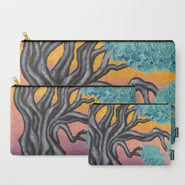 Olive tree at sunset oil painting Carry-All Pouch