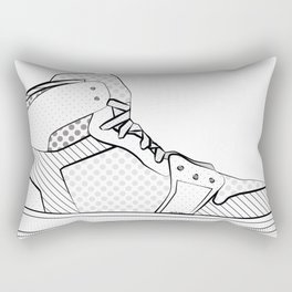 sneaker illustration pop art drawing - black and white graphic Rectangular Pillow