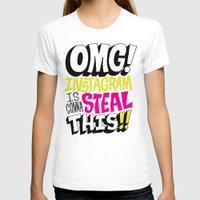 instagram T-shirts featuring OMG! INSTAGRAM! by Chris Piascik