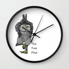 the tree pose Wall Clock