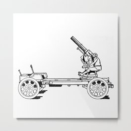 Anti-aircraft gun. Metal Print