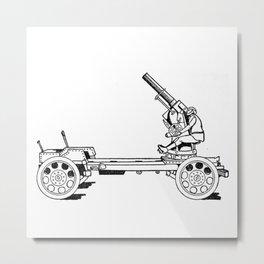 Anti-aircraft gun. Metal Print