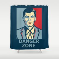 archer Shower Curtains featuring Archer by Mental Activity