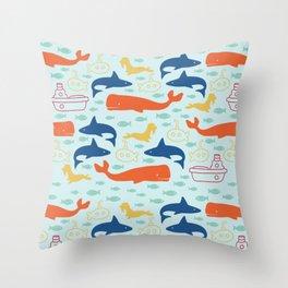 Under the Sea Adventures Throw Pillow