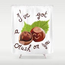 A crush on you / Je craque pour toi ! Shower Curtain