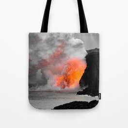 Lava Meets Ocean Tote Bag