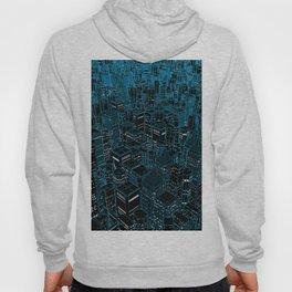 Night light city / Lineart city in blue Hoody