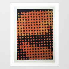 ORANGE HALFTONE Art Print