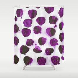 Deep purple floating ink blobs. Shower Curtain