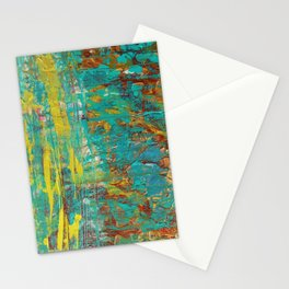 Abstract Copper and Gold Stationery Cards