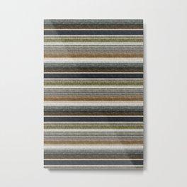 serape southwest stripe - muted natural tones Metal Print