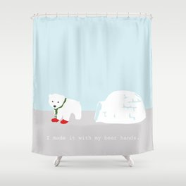 Snowbeary Shower Curtain