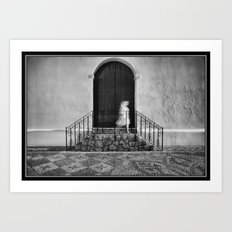 The Ghost Walking Past The Church Art Print