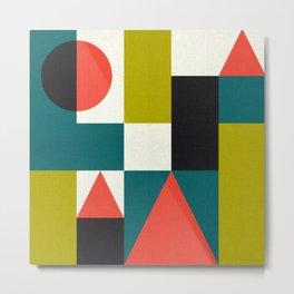 Mid-century Pattern 107 (blocks) Metal Print
