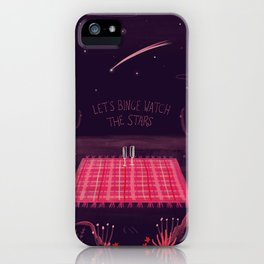 Lets Binge watch the stars iPhone Case