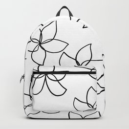 Plumeria Frangipani Tropical Flowers Summer Floral Pattern Backpack