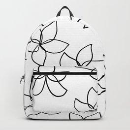Plumeria Frangipani Tropical Flowers Summer Floral Pattern Backpack