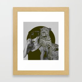 feline instinct Framed Art Print
