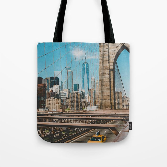 The Bridge in New York City (Color) Tote Bag