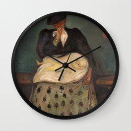 12,000pixel-500dpi - Edvard Munch - Inheritance - Digital Remastered Edition Wall Clock