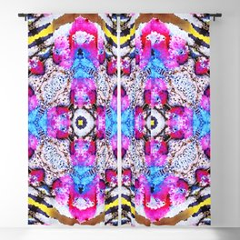 Abstract Pink Parrots Blackout Curtain