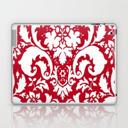 Paisley Damask Red and White Pattern Laptop & iPad Skin