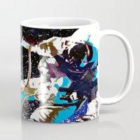 astronaut Mugs featuring Astronaut  by Saundra Myles