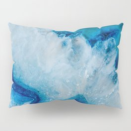 Royally Blue Agate Pillow Sham
