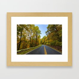 Autumn Road Trip Framed Art Print