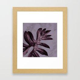 PURPLE LEAF Framed Art Print
